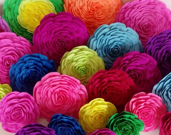 12 giant Paper Flowers rainbow large Nursery fiesta Taco Wall Decor Mexican Bridal Shower Baby Photo backdrop Weding Cactus Summer Party