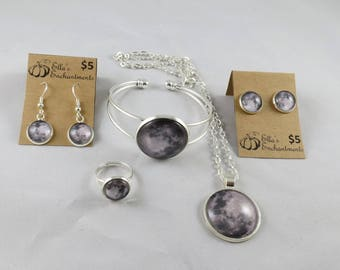 Nasa Moon Jewelry Set