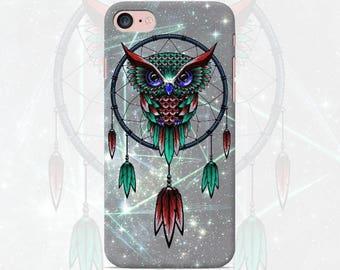 Owl Phone case iPhone 7 7 Plus 6 6s 6 plus 5 5s 5se 4 Samsung galaxy case s7 edge s7 s6 s5 s4 s3 dream catcher dreamcatcher print cover case
