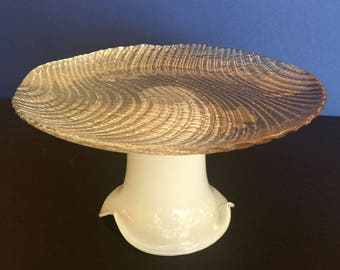 Copper Cake Stand With Orential Etching