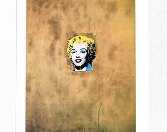 Andy Warhol / Marilyn Monroe / Original Book Page Print / Published 1980's / Pop Art / Vintage