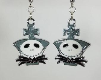 Nightmare Before Christmas, Cross top dangle earrings