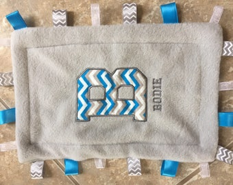 Baby Blankets, Taggy Blanket, Baby Items, Monogram, Burp Clothes, Baby Boy, Baby Girl