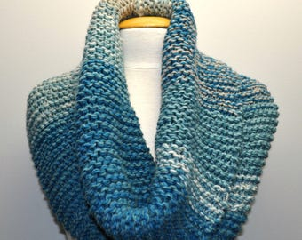 Knit Cowl - Teal Variegated