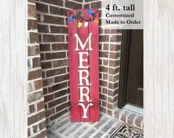 Holiday Sign, Holiday Home Decor, Rustic Holiday Sign, Wood Holiday Sign, Rustic Wood Sign, Wood Porch Sign, Christmas Home Decor