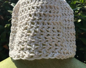 Crocheted beanie adult size