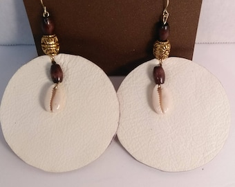 Earrings genuine leather earrings