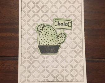 Hola! Cactus Greeting Card