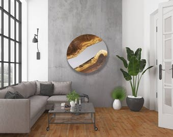 CUSTOM - Black Walnut Live Edge Round Mirror - Modern - Wood Mirror - Minimalistic - Charming - BOHO