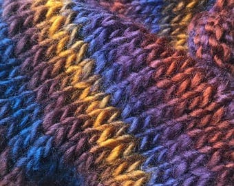 Colorful Cowl, Autumn Color Infinity Scarf