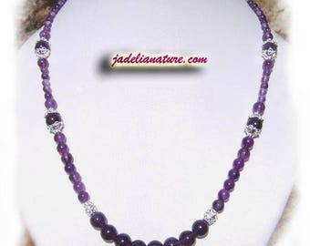 Amethyst necklace and Sterling Silver 925