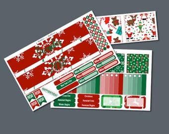 "December 2018 Monthly Planner Sticker Kit ""Traditions"": Made to fit Erin Condren Life Planner"