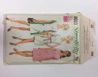 Vintage 1969 Simplicity 8083 Mod Dress Sewing Pattern