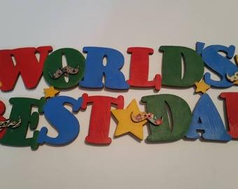 World Best Dad wooden sign
