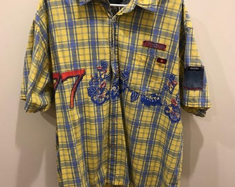 Vintage Bugle Boy Hawaiian Button Up - - Size XXL