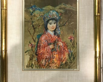 Oriental Child by Edna Hibel, signed and numbered lithograph