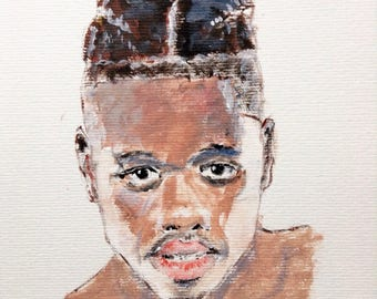 Portrait of a young boxer