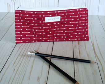 Arrow Pencil bag/ Pencil Pouch/ Back to School