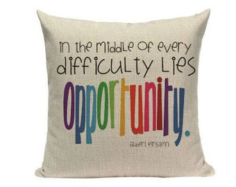 LUXURIOUS  Colorful, INSPIRATIONAL, MOTIVATIONAL, home decor pillow, covers Woven ,Cushion,Pillow Cover 18 x 18