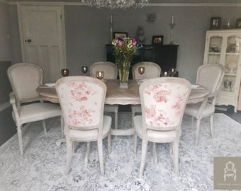 NOW SOLD French Style Dining Table and Six Chairs