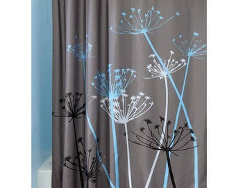 """Thistle Shower Curtain - Gray/Blue (72"""" x 72"""")"""