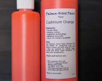 Paloma Artist Paint - Cadmium Orange 250ml
