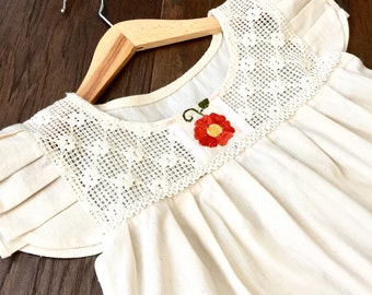 Handmade embroidered girls dress 3T-4T