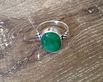 Handmade Silver Emerald Ring