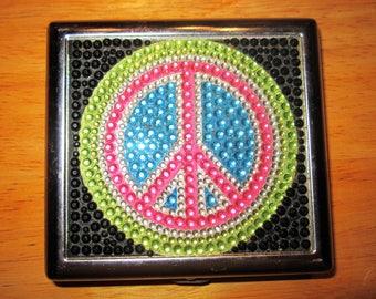 Funky peace sign cigarette box