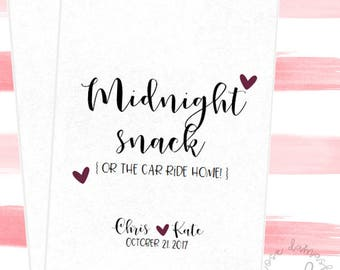 Midnight Snack, Favor Bags, Popcorn Bags, Wedding Candy Buffet, Candy Bags, Buffet Bags, Cookie Bags, Wedding Favors, RD55