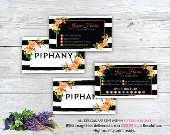 Piphany Business Card, Custom Piphany Business Card, Personalized Piphany Marketing Kit, Watercolor business card, Printable Card TP08
