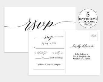 printable rsvp card chalkboard wedding reply card blackboard. Black Bedroom Furniture Sets. Home Design Ideas