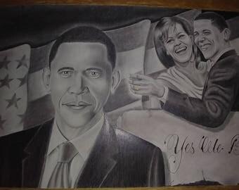 Original Barack Obama Artwork 20X30