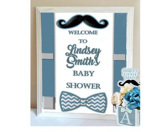 LITTLE MAN SIGN- Custom Little Man Baby Shower Welcome Sign