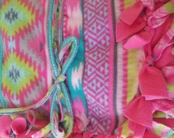 Aztec Beautiful Color- No sew Fleece