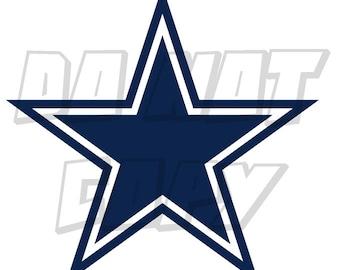 Dallas Cowboys Star Football Decal