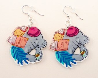 Manatee jewelry, Manatee gift, Manatee earrings, cute earrings, animal jewelry, Manatee, quirky jewelry, quirky gift, manatee art