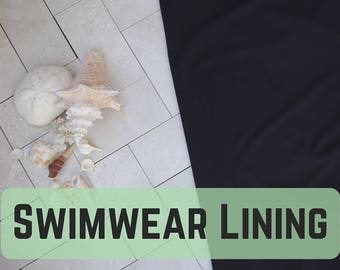 Swim Lining! In Black, lightweight & stretch! Perfect for your Swimwear! Sold by the 1/2 Meter!