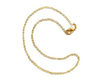 2 Rolo 20 Inch Gold Chain, Finished Necklace, Chain Necklace, Gold Plated Chain, Wholesale, Adjustable Necklace, 2.3x1.8mm, On sale