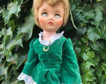 Scary Eyes Plastic Vintage Halloween Doll