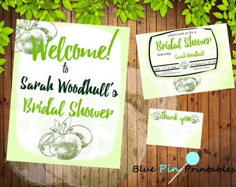 Citrus Bridal Shower Invite Package. Lime Invite Package. Bridal Shower Invitation. Custom Bridal Shower. Printable Bridal Shower Invite.