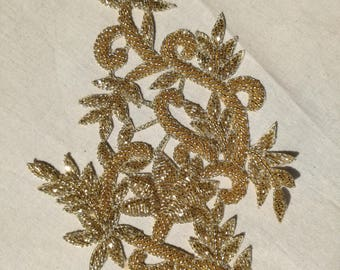 embroidered gold flower