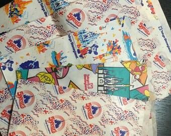 Retro Tokyo Disneyland Paper Bags Set of 5