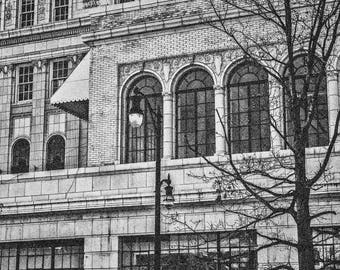 FINE ART Photo Black & White | East Entrance to Thomas Jefferson Lofts