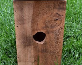 Fire Brazed Wood Birdhouse