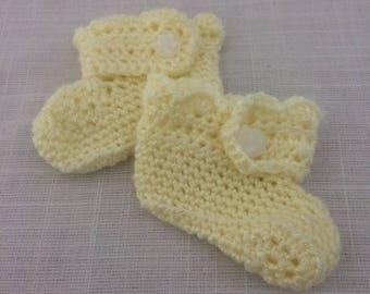 Handmade newborn booties