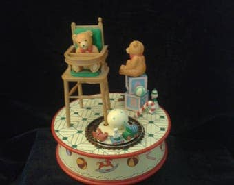 Gordon Fraser Gallery 1992 Teddy Bears animated Music Box RARE