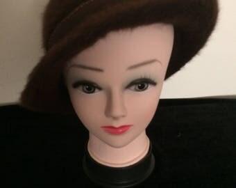 Kangol Brown Mohair Hat