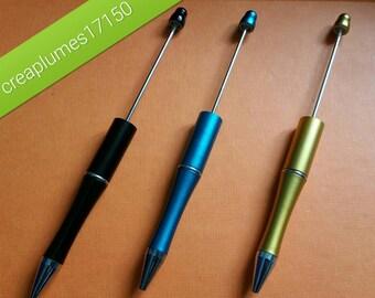 Set of 3 pens jewelry mixed novelty