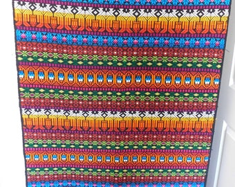 Mid century Modern Textile Fabric Rug Runner wallhanging